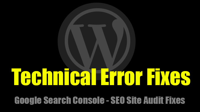 Technical seo error fixes site audit issues