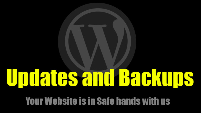 wordpress update and backup services
