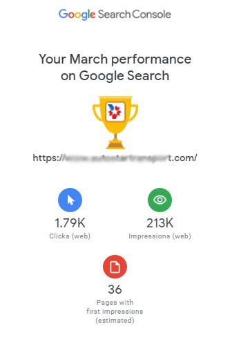 GOOGLE SEARCH CONSOLE PERFORMANCE 1